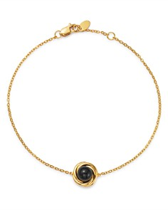 Bloomingdale's - Onyx Swirl Station Bracelet in 14K Yellow Gold - 100% Exclusive