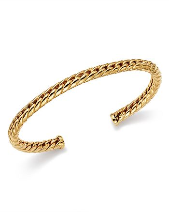 Bloomingdale's - Polished Rope Cuff in 14K Yellow Gold - 100% Exclusive