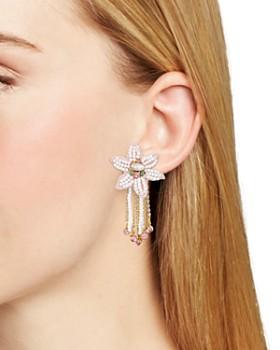 Rebecca Minkoff - Calla Floral Fringe Stud Earrings