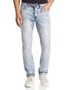 PRPS - LeSabre Slim Straight Fit Jeans in Bleach Spot Indigo