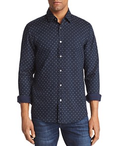 BOSS Lukas Dobby Dot Regular Fit Button-Down Shirt - Bloomingdale's_0