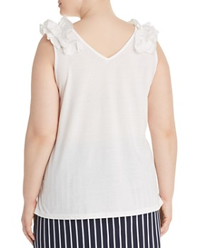 JUNAROSE Plus - Elavia Ruffle Shoulder Top