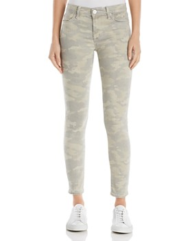 Hudson - Nico Mid Rise Ankle Super Skinny Jeans in Army Camo