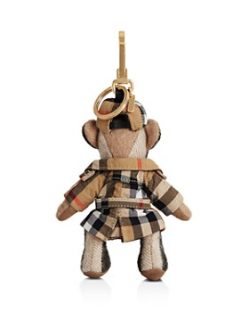 Burberry - Thomas Bear Charm in Check Trench Coat