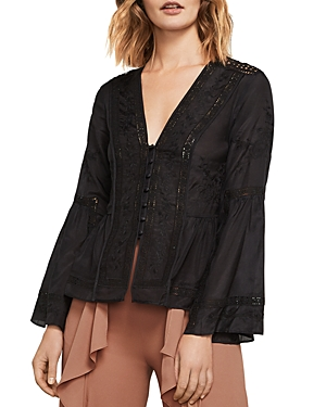 Bcbgmaxazria Joice Floral Embroidered Top