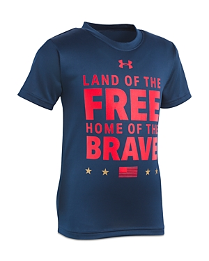 Under Armour Boys Land of the Free Tee  Little Kid