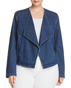 Lyssé Plus - Alana Drape Front Denim Jacket