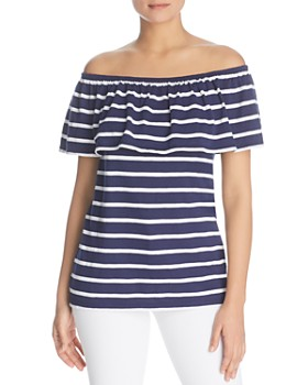 BeachLunchLounge - Striped Off-the-Shoulder Top