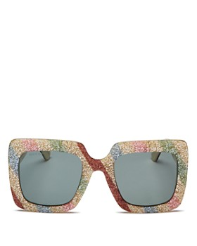 Gucci - Women's Glitter Rectangular Sunglasses, 53mm