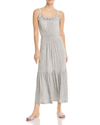Shirred Ruffle Midi Tank Dress by Rebecca Taylor
