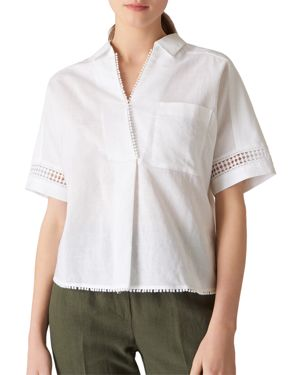 Whistles Kristyn Lace-Inset Shirt
