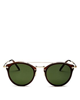 Oliver Peoples - Women's Remick Brow Bar Round Sunglasses, 50mm