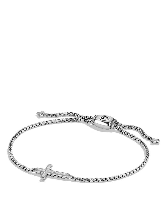 David Yurman Pavé Cross Bracelet with Diamonds   | Bloomingdale's