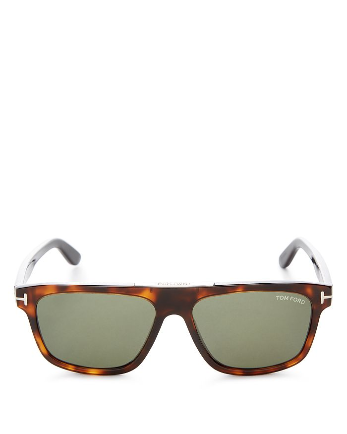 Tom Ford - Men's Cecilio Flat Top Square Sunglasses, 56mm