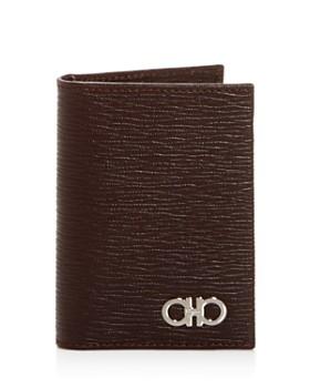 Salvatore Ferragamo - Embossed Leather Bi-Fold Card Case
