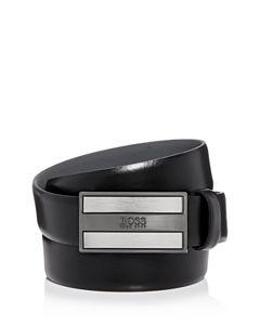 e7a10599 Armani Armani Men's Plaque Buckle Reversible Leather Belt ...