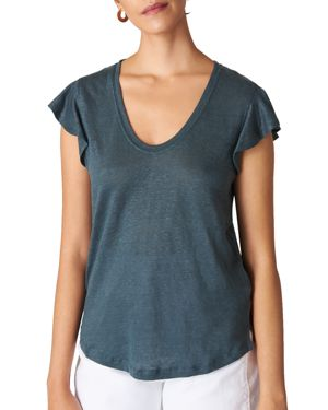 FRILL-SLEEVE TEE from Bloomingdale's