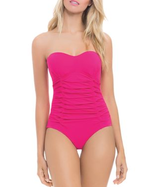 PROFILE BY GOTTEX ORIGAMI BANDEAU ONE PIECE SWIMSUIT