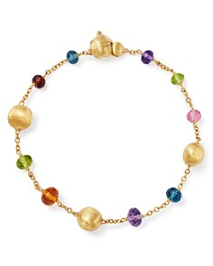 Marco Bicego - 18K Yellow Gold Africa Color Multi Gemstone Bracelet - 100% Exclusive