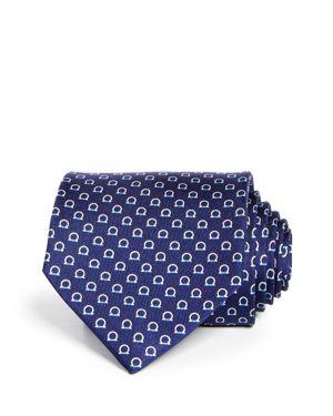 Gancio-Print Silk Twill Necktie
