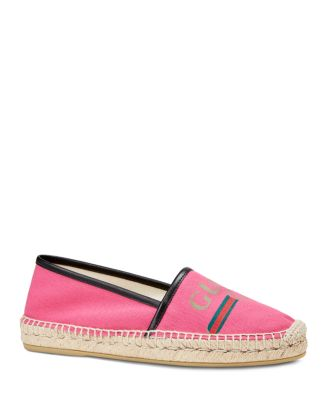 Gucci Shoes Women's Canvas Logo Espadrille Flats
