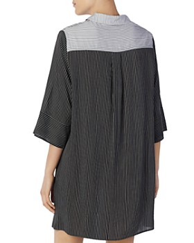 Donna Karan - Striped Sleepshirt