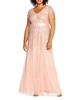 Adrianna Papell Plus - Cap Sleeve Embellished Gown