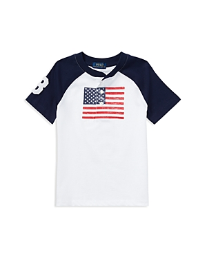 Polo Ralph Lauren Boys Cotton Jersey American Flag Henley Tee  Little Kid