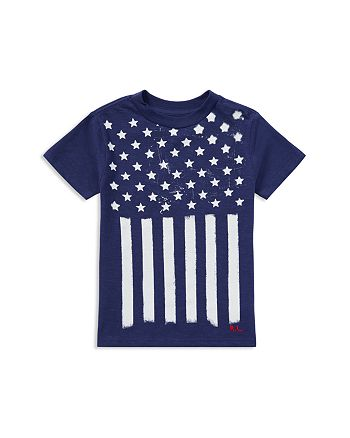 Ralph Lauren - Boys' Cotton Jersey Stars & Stripes Tee - Little Kid
