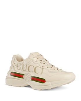 f886150fa20c Gucci - Women s Rhyton Leather Logo Sneakers ...