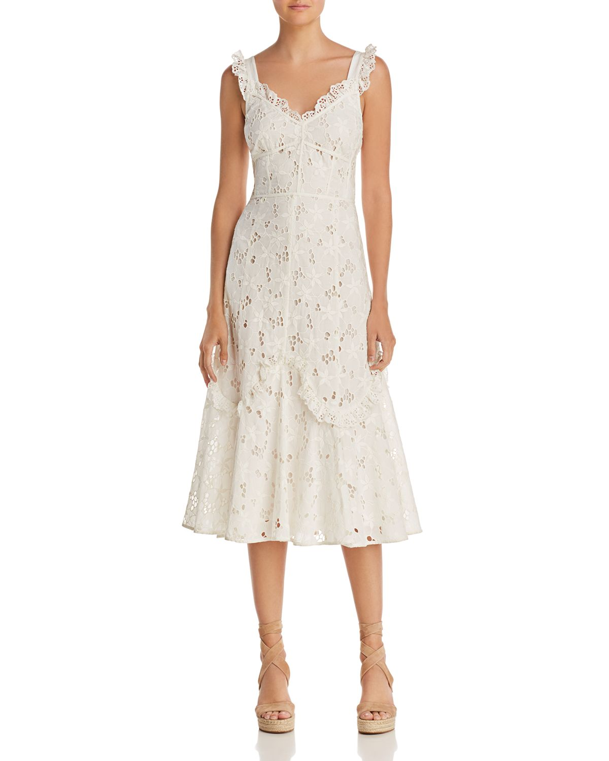 Adriana Lace Midi Dress by Rebecca Taylor