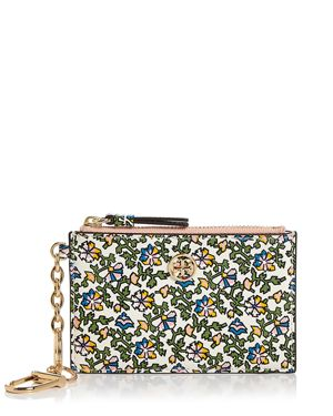 Tory Burch Robinson Floral Leather Card Case & Key Fob 2985061