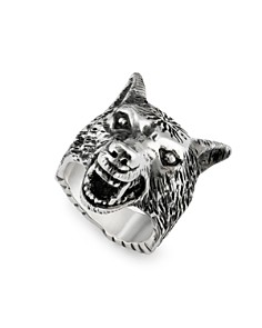 Gucci - Sterling Silver Anger Forest Wolf Ring