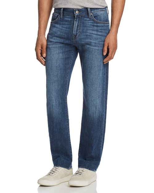7 For All Mankind - Standard Straight Fit Jeans in French Blues