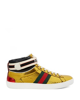 online store f2c4d bef61 ... Gucci - Women s New Ace High Metallic Snakeskin Sneakers