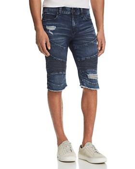 d8b717db6549 True Religion - Geno Slim Straight Fit Moto Shorts ...