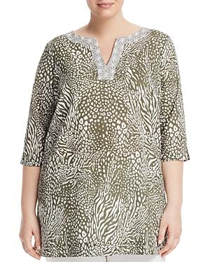 Foxcroft Plus Toni Animal-Print Tunic