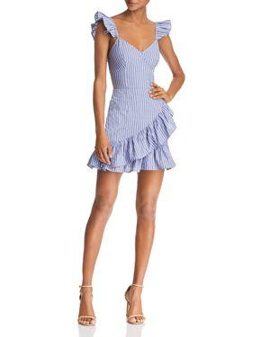 Parcel Stripe Dress, Blue With White