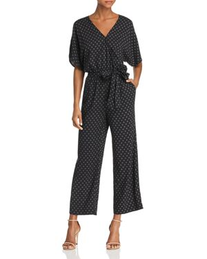 VANETTE POLKA-DOT PRINTED CROPPED JUMPSUIT