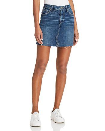 40f478135 PAIGE Aideen Denim Skirt in Valeria | Bloomingdale's