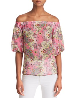 Bailey 44 - Tune In Floral Paisley Off-the-Shoulder Top