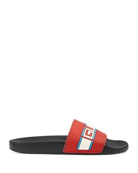 Gucci - Women's Stripe Slide Sandals