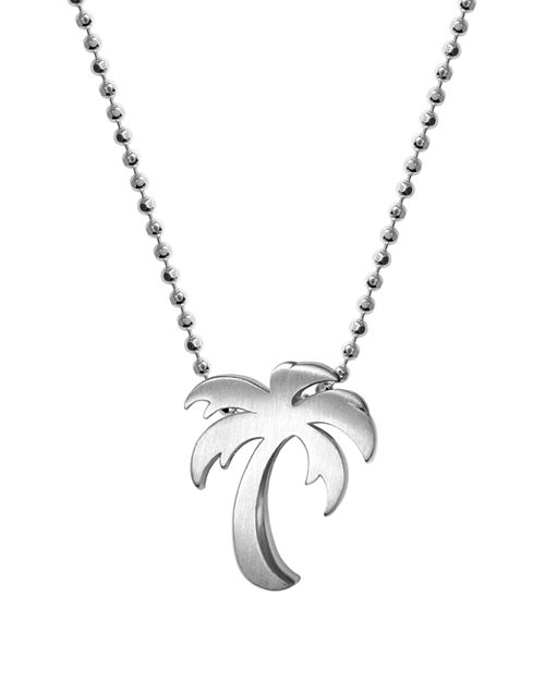 """Alex Woo - Silver Cities Palm Tree Necklace, 16"""""""