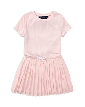 Polo Ralph Lauren Girls Pleated TShirt Dress  Little Kid