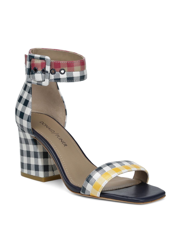 Donald Pliner Women's Watson Color-Block Leather Block Heel Sandals