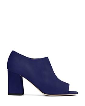 Via Spiga - Women's Eladine Open Toe Block-Heel Booties