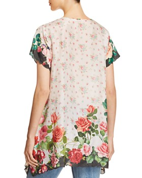 Johnny Was - Silk Rose-Print Tunic