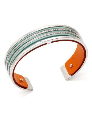 Les Georgettes Parralleles Reversible Two-Tone Open Cuff Bracelet