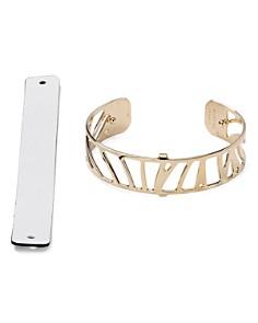Les Georgettes - Perroquet Reversible Two-Tone Open Cuff Bracelet