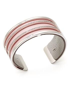 Les Georgettes - Parrallèles Reversible Medium Two-Tone Open Cuff Bracelet